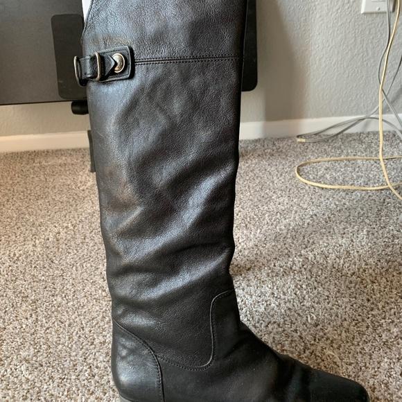 Coach Black Benita Smith Boots, size 9.5 Medium